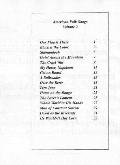 American Folk Songs Volume 2 Index