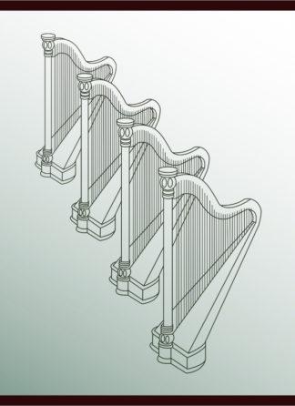 Four Harps Together
